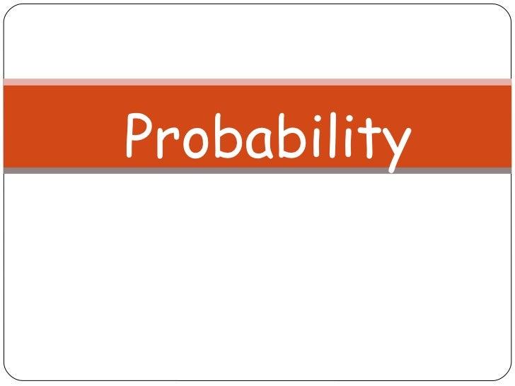Probabilty1