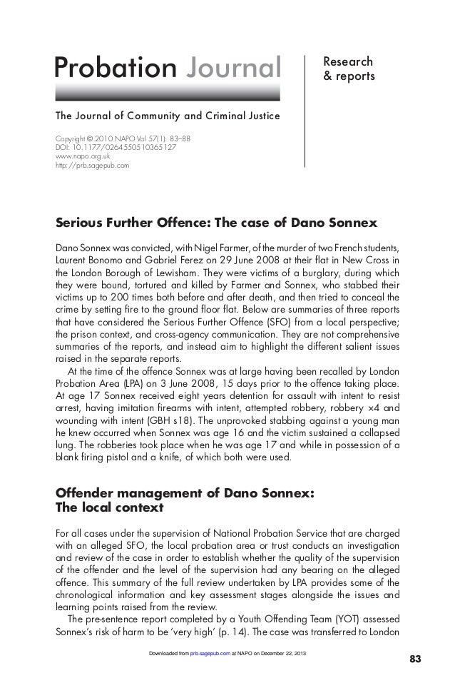 Probation journal 2010 Sonnex case