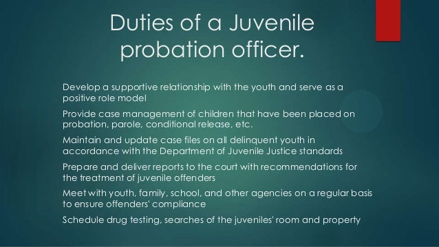 how probation & juvenile probation are different essay 1 how, according to this statement, has probation changed in the last couple of decades probation has changed in the last couple of decades as there are an.