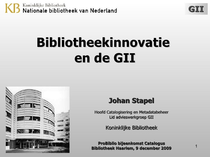 ProBiblio 2009-12-09 - Johan Stapel