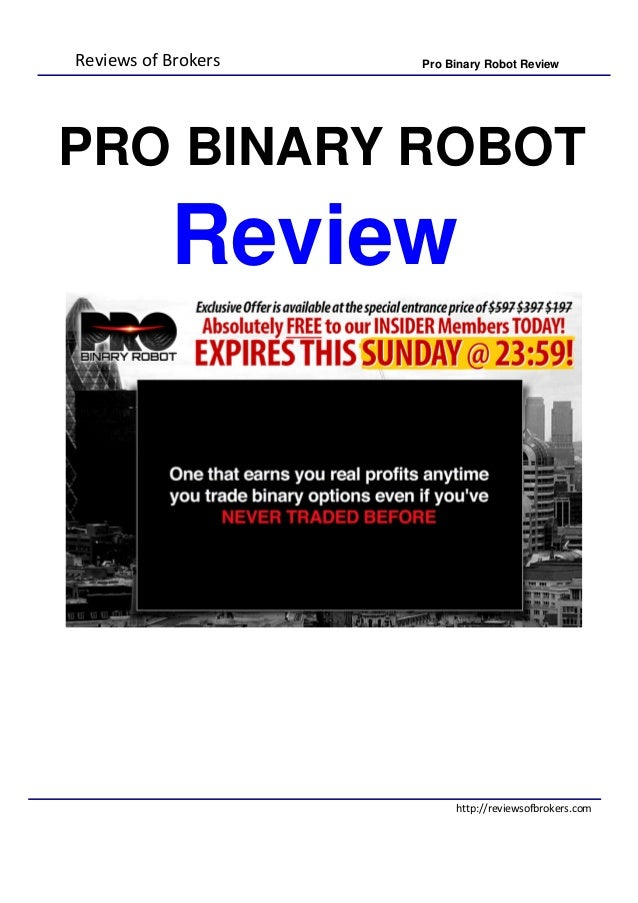 Binary option robot experience