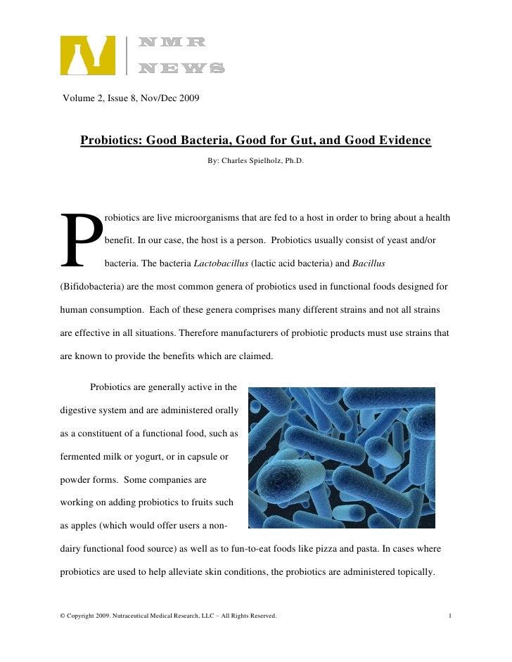 Probiotics Article Nmr News Nov Dec 2009