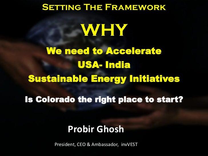 Probir Ghosh India Delegation invVEST 5-16-2011