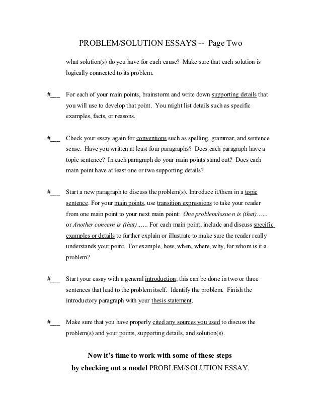 solution essays