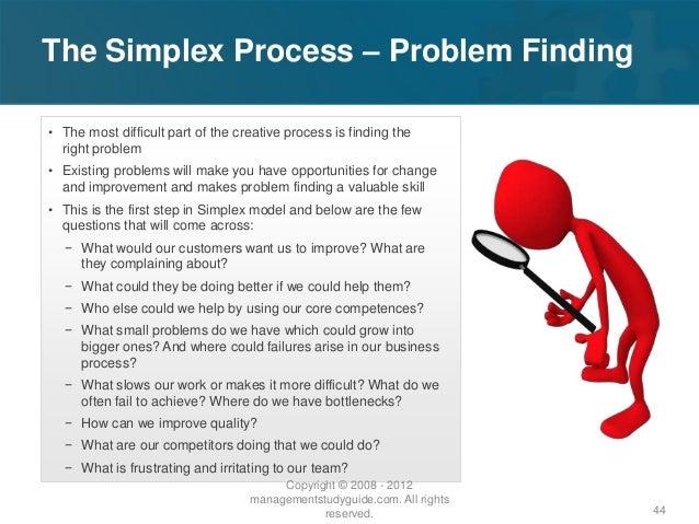Problem finding problem solving