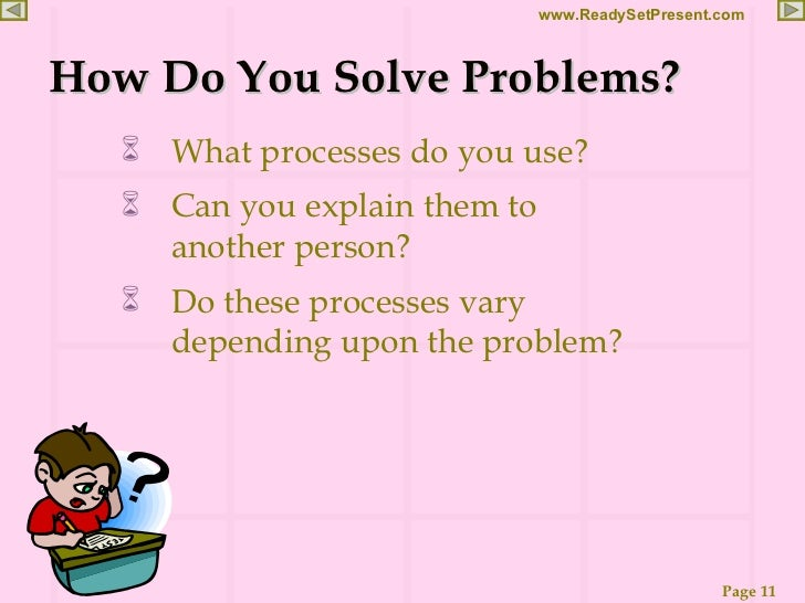 critical thinking problem solving questions