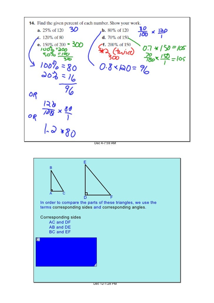 Corresponding Angles And Sides Corresponding Sides ac And df