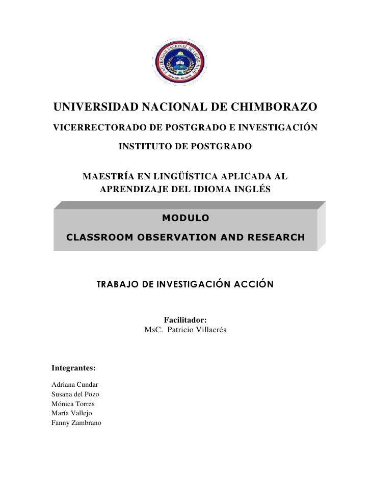2034540-166370<br />UNIVERSIDAD NACIONAL DE CHIMBORAZO<br />VICERRECTORADO DE POSTGRADO E INVESTIGACIÓN<br />INSTITUTO DE ...
