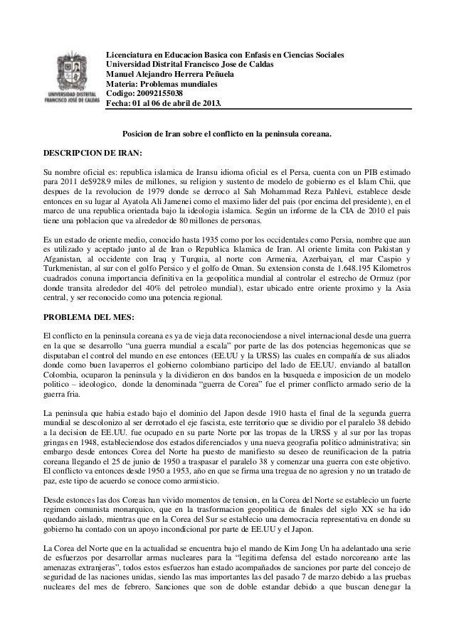 Licenciatura en Educacion Basica con Enfasis en Ciencias Sociales                   Universidad Distrital Francisco Jose d...