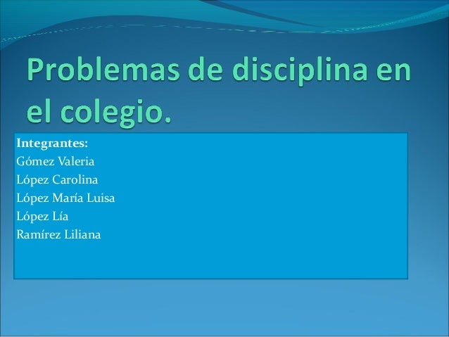 Problemas De Disciplina En El Colegio