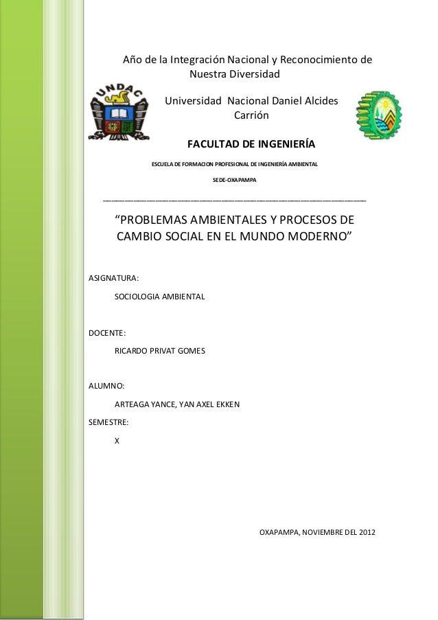 1Año de la Integración Nacional y Reconocimiento deNuestra DiversidadUniversidad Nacional Daniel AlcidesCarriónFACULTAD DE...