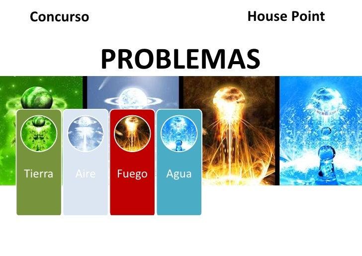Concurso                      House Point                PROBLEMASTierra   Aire   Fuego   Agua