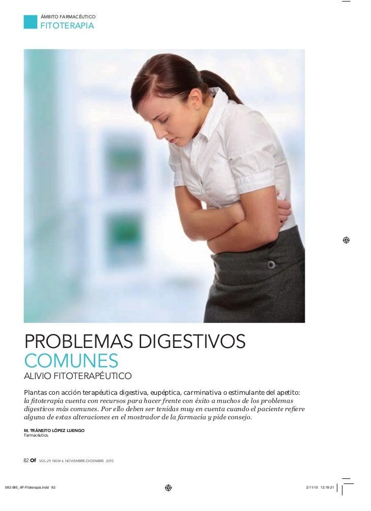Problemas digestivos fitoterapia