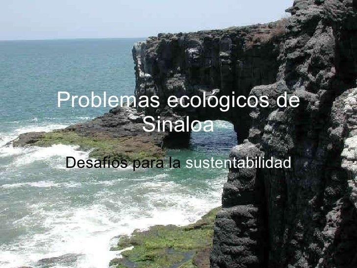 Problemas ecológicos de Sinaloa Desafíos para la  sustentabilidad
