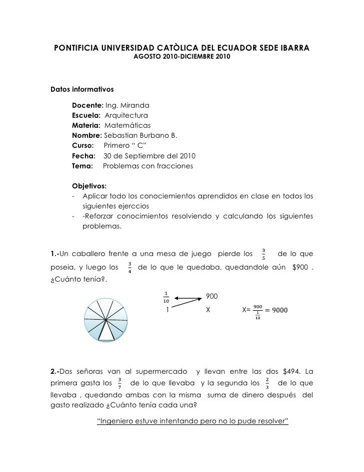 PONTIFICIA UNIVERSIDAD CATÒLICA DEL ECUADOR SEDE IBARRA<br />AGOSTO 2010-DICIEMBRE 2010<br />Datos informativos<br />Docen...