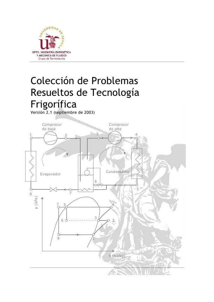 Colección de ProblemasResueltos de TecnologíaFrigoríficaVersión 2.1 (septiembre de 2003)              Compresor           ...