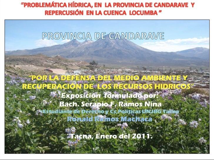 Problema Hídrica en Candarave - Cuenca Locumba