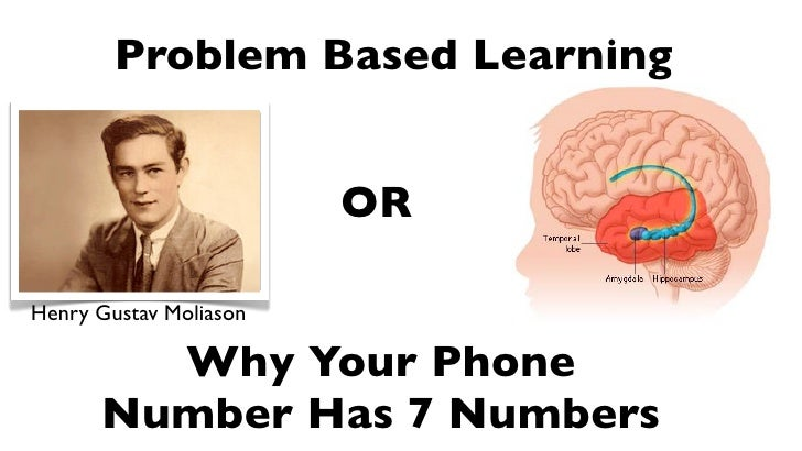 Problem Based Learning                           OR  Henry Gustav Moliason          Why Your Phone       Number Has 7 Numb...