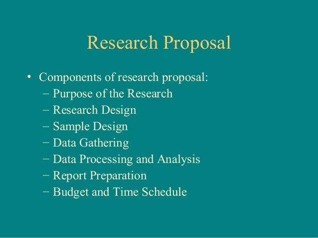 What Is Research Proposal