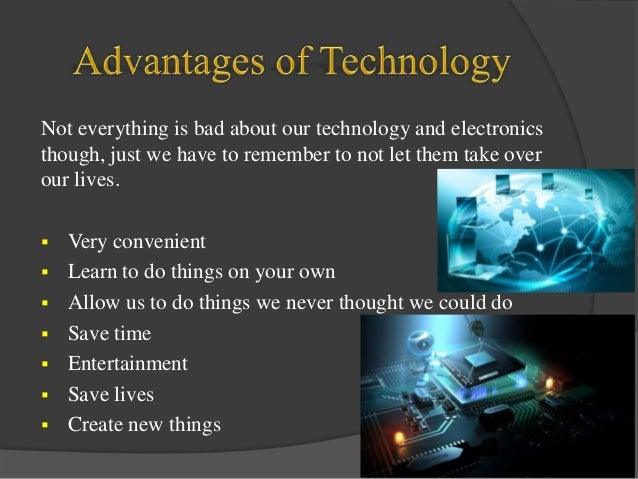 demerits of technology