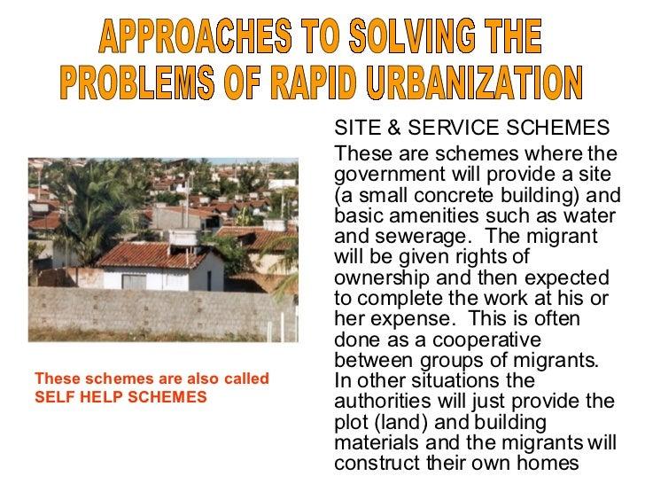 the problems of urbanization