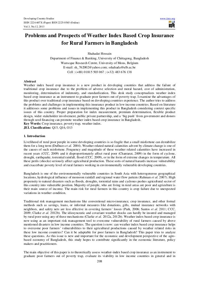 Developing Country Studies ISSN 2224-607X (Paper) ISSN 2225-0565 (Online) Vol.3, No.12, 2013  www.iiste.org  Problems and ...