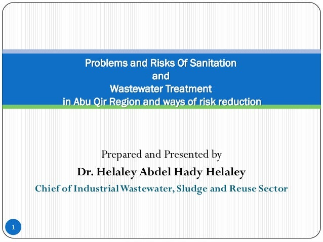 Prepared and Presented by Dr. Helaley Abdel Hady Helaley Chief of IndustrialWastewater, Sludge and Reuse Sector 1 Problems...