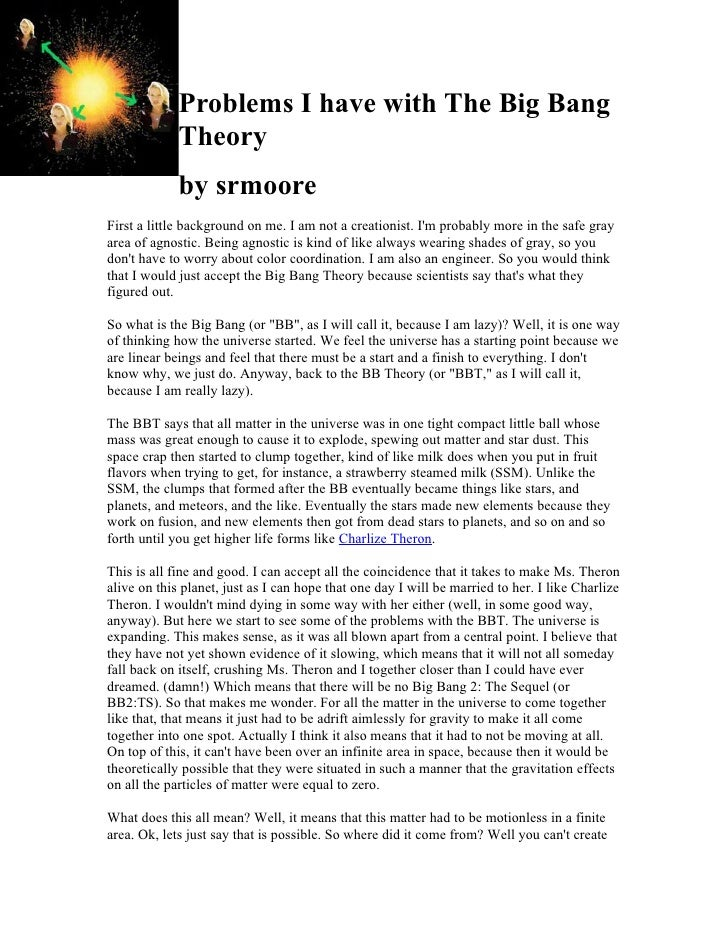 Problems I have with The Big Bang             Theory             by srmooreFirst a little background on me. I am not a cre...