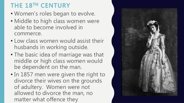What was the role of the modern middle-class woman in the 18-19th century?