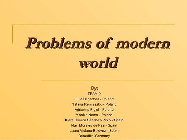 Problems of modern world
