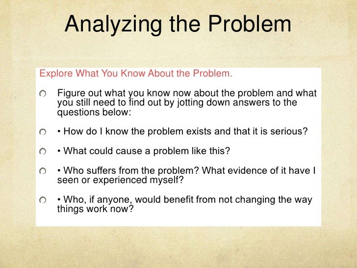 a good way to end a problem/solution essay is to 2 you will identify a problem and then _ a possible solution (noun) making a careful judgment about whether something is good or bad, considering different ideas or opinions about something examples: 1 you will practice the _ _ that is.