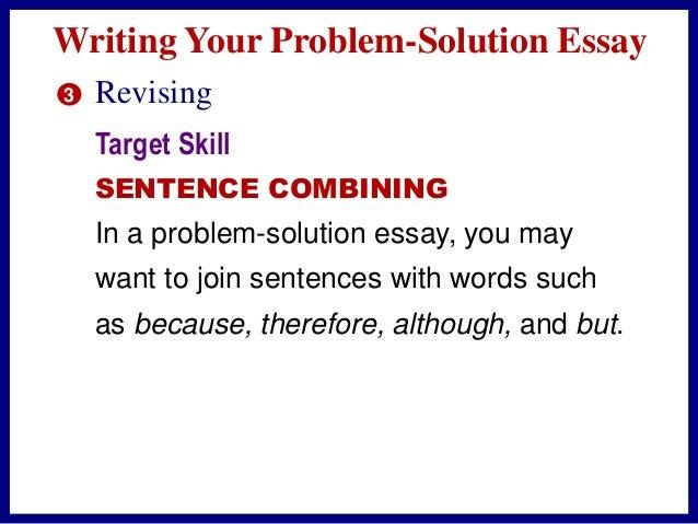 problem solutions essay