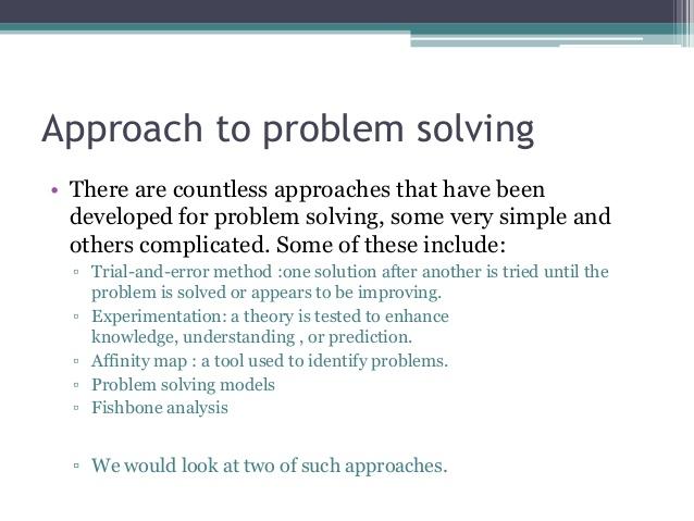 problem solving essay thesis