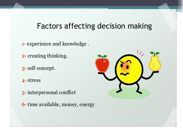 effect of stress on decision making essay
