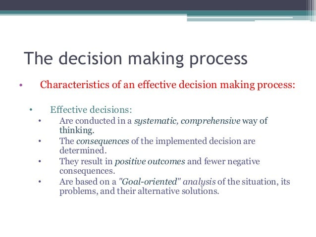 management decision making process essay Quite often, the decision making process is fairly specific to the decision being made some choices are simple and seem straight forward.