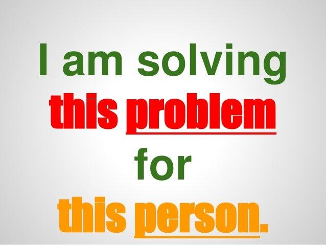 Problem solv