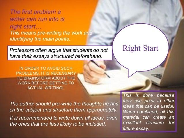 Essay writing problems?