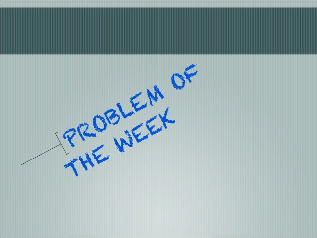 Proble of the week123123