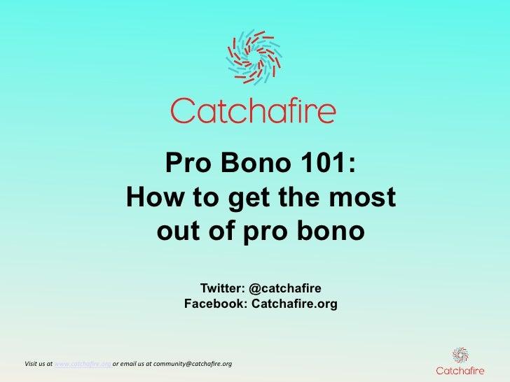 Pro bono 101 for Organizations