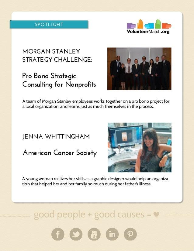 SPOTLIGHT  MORGAN STANLEY STRATEGY CHALLENGE:  Pro Bono Strategic Consulting for Nonprofits A team of Morgan Stanley emplo...
