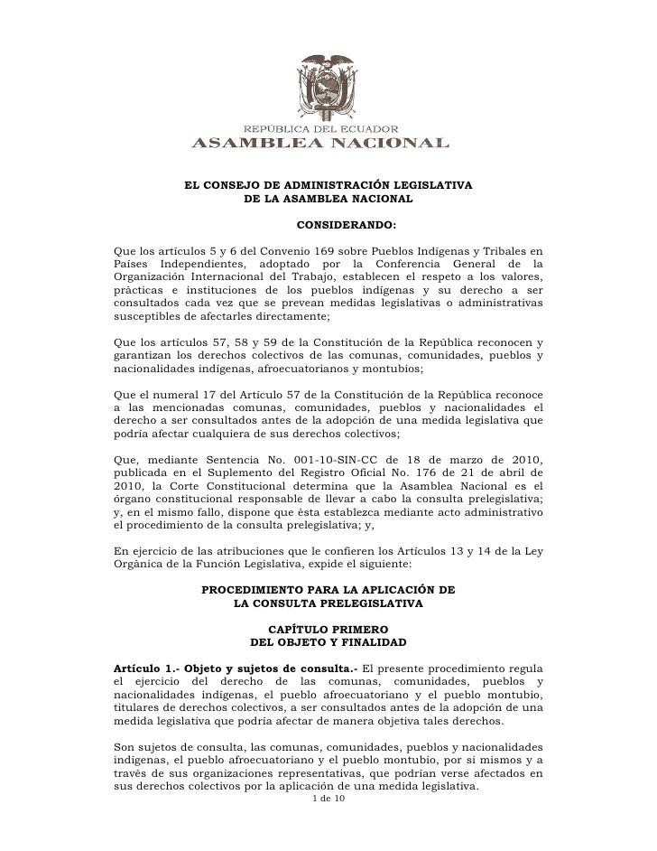 EL CONSEJO DE ADMINISTRACIÓN LEGISLATIVA                     DE LA ASAMBLEA NACIONAL                        ...