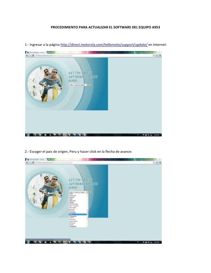 Procedimiento para actualizar el software del Milestone 2