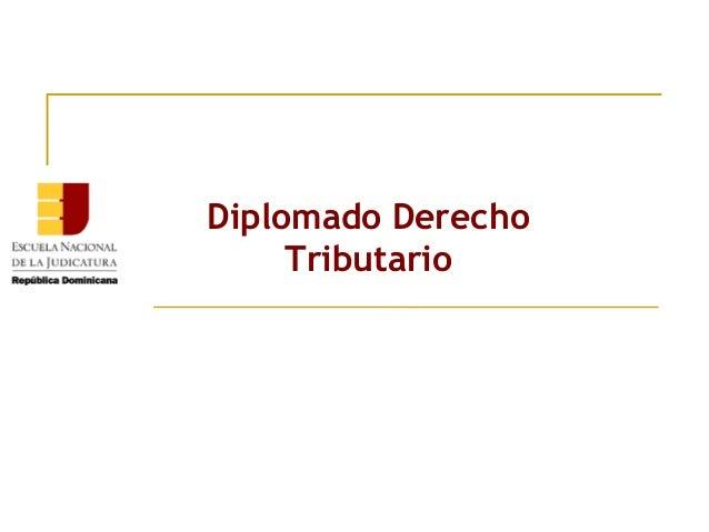 Diplomado Derecho Tributario
