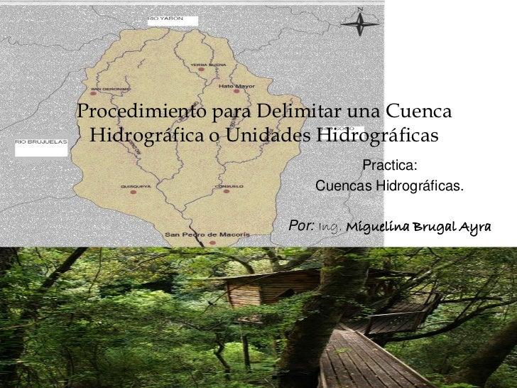 Procedimiento para Delimitar una Cuenca Hidrográfica o Unidades Hidrográficas                               Practica:     ...