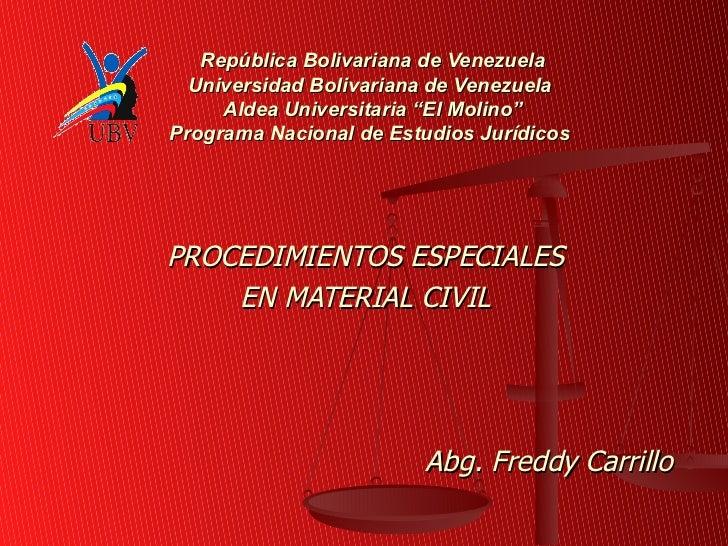 "República Bolivariana de Venezuela  Universidad Bolivariana de Venezuela     Aldea Universitaria ""El Molino""Programa Nacio..."