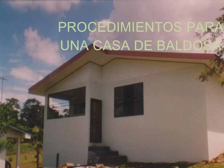 Procedimientos Para Una Casa De Baldosa
