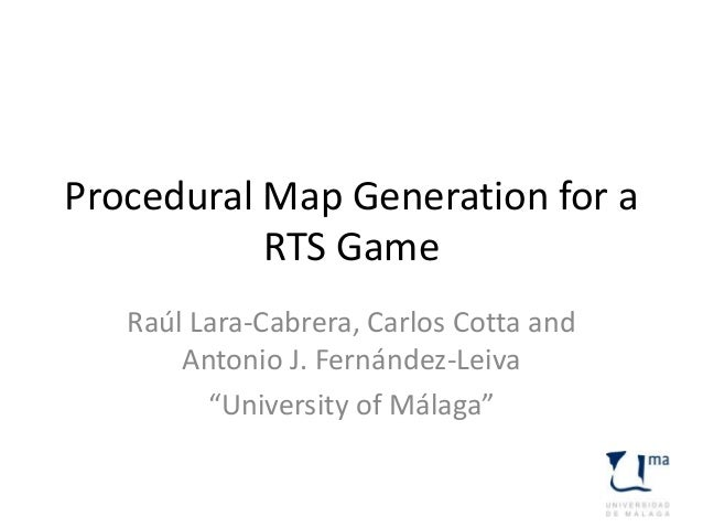 Procedural map generation for a RTS game