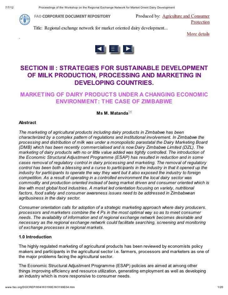 7/7/12              Proceedings of the Workshop on the Regional Exchange Network for Market Orient Dairy Development      ...