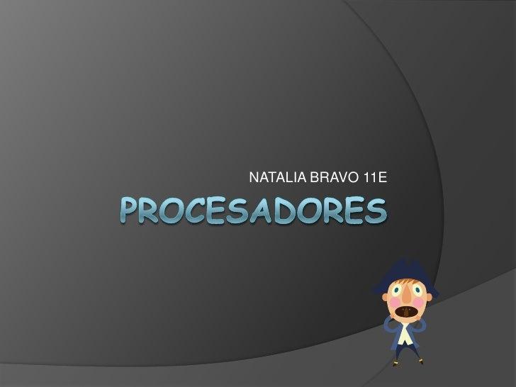 Procesadores 11DE