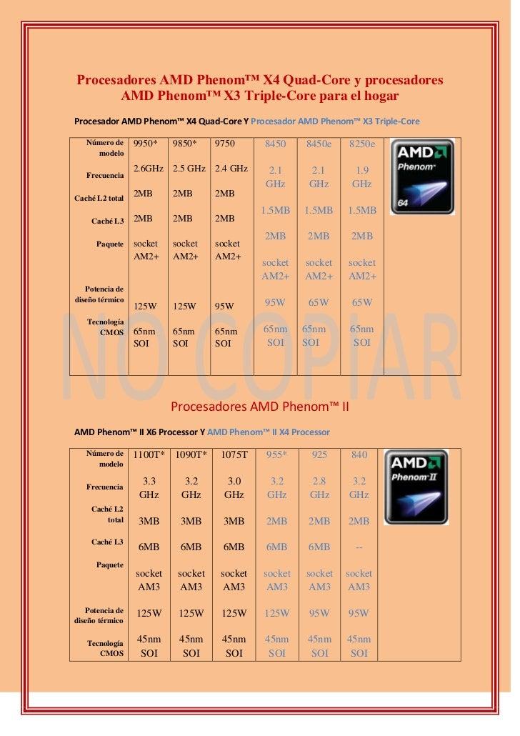 Procesadores AMD Phenom™ X4 Quad-Core y procesadores AMD Phenom™ X3 Triple-Core para el hogar<br />Procesador AMD Phenom™ ...